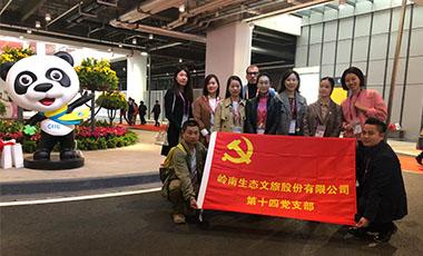 德马吉支部党员在进博会期间开展志愿服务活动
