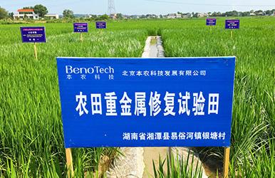 湖南湘潭 · 湘潭县农田重金属修复示范试验